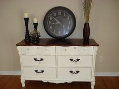 Super cute site for redoing furniture. Want to do something like this dresser with that table I bought