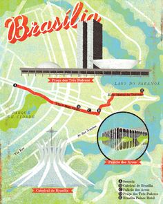 Brasilia Map by Ian Phillips