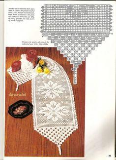 Crochet Table Runner Pattern, Crochet Tablecloth, Crochet Doilies, Fillet Crochet, Thick Yarn, Crochet Home, Thread Crochet, Crochet Patterns, Knitting