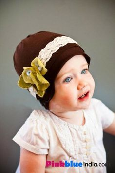 756d35eff70 Stylize your infant baby with the smart and stunning brown cap which comes  with a classy