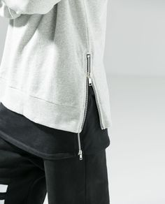 Zara - Side Zip Sweatshirt