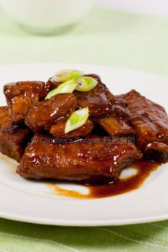 Spicy Beancurb Pork Rib Stew (Chinese Cuisine) from Christine's Recipes