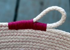 Rope Baskets -- variation on finishing the end                                                                                                                                                                                 More