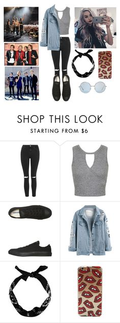 """5sos Concert Outfit."" by jasloves5sos ❤ liked on Polyvore featuring Topshop, Miss Selfridge, Converse and 5secondsofsummer"