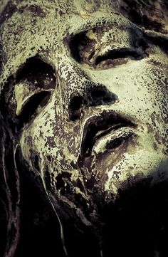 Beautiful Decay - statue - woman - head - face - eyes - nose - mouth - cheek - chin - hair - drift away