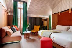 Room Mate's Patricia Urquiola-Designed Hotel Giulia Brings Affordable Luxury to Milan. #design #interiordesign #interiordesignmagazine #projects #hospitality #luxury