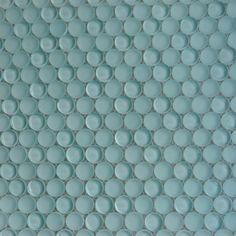 Shop For Loft Adriatic Mist Penny Round Glass Tiles at TileBar.com