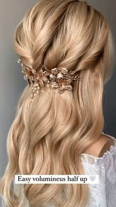 Hairstyle For Wedding Day, Easy Hairstyles For Long Hair, Wedding Hairstyles For Long Hair, Cute Hairstyles, Bridesmaid Hairstyles, Bride Hairstyles, Protective Hairstyles, Hair Dos For Wedding, Wedding Hair And Makeup