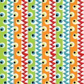 Monster eyes and teeth by tracydw70, click to purchase fabric...new coordinate in my Monster Love collection #monsterfabric #spoonflower #monsterlove