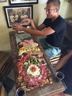 Cured Prosciutto? It's a form of art... #foodies #foodart #foodporn @LaProsciutteria in Rome