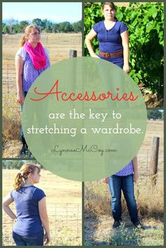 I love using accessories to stretch the way I can use an outfit. Now I'm teaching my daughter to do the same.