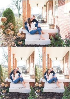Nashville, TN Engagement Photography Session - In home and front porch engagement session pictures Country Engagement Pictures, Winter Engagement Photos, Engagement Photo Poses, Engagement Photography, Engagement Shoots, Fall Engagement, Engagement Inspiration, Wedding Photography, Family Christmas Pictures