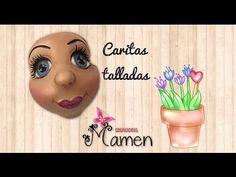 (34) Como hacer una cara tallada con poliespan Creaciones Mamen - YouTube