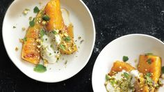Roasted Pineapple with Honey and Pistachios Recipe | Bon Appetit