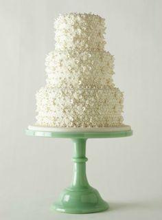 Cake by Wedding Cakes by Kim Payne. Stand by Bountiful.