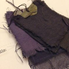 Hannah Lamb - Logwood dye samples from workshop with Kirstie Williams