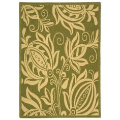 Safavieh Courtyard Olive/Natural 5 ft. 3 in. x 7 ft. 7 in. Area Rug-CY2961-1E06-5 - The Home Depot