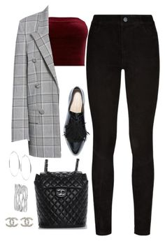 """""""Untitled #4456"""" by magsmccray ❤ liked on Polyvore featuring Alexander Wang, Paige Denim, Chanel, GUESS and M&Co"""