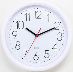 949183343a9 Modern 10-Inch Simple Home Decor Round Non-Ticking Silent Wall Clock Living  Room