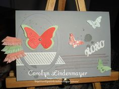 Carolyn's Card Creations: Framed Butterfly Grunge card