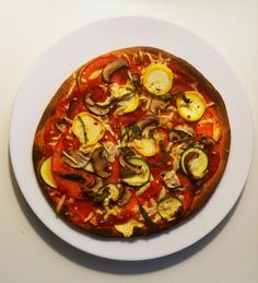 SUMMER PIZZA (& ITS DAIRY FREE TOO!) i wanted to make a pizza that felt light and summery, so i loaded it with fresh tomatoes, zucchini, squash, and mushrooms from my local farmer's market. (you could...