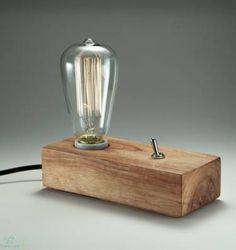 industrial lâmpada toco de tora - iluminação dbertoli