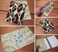 kirin notebook: How to make a reversible journal cover | I think I'll see if I can make it work for my kindle.