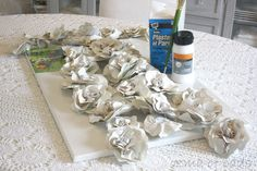 Diy Plaster Paper Rose Wall Sculpture - Tutorial