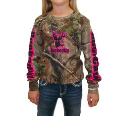 Youth Longsleeve Realtree APG Camo with Pink Logo: Hunting Apparel | Hunting Clothes | Shirts | Stickers | Decals