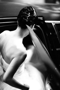 Another getting into the limo image. Love the classic element from the black & white picture.