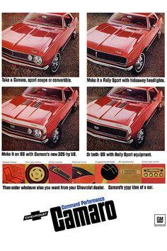 1968 Chevy Camaro ad poster