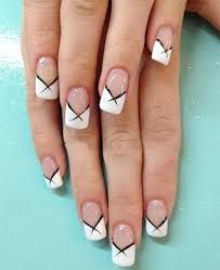 Image result for white tip nails