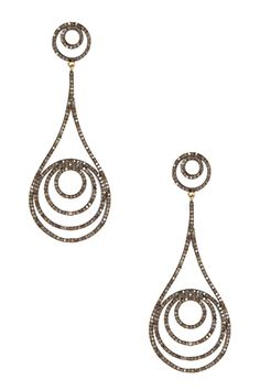 Champagne Diamond Cascading Swirl Teardrop Dangle Earrings - 3.70 ctw by Rivka Friedman on @HauteLook