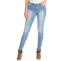 Indigo Thread Co.™ Stretch Denim Pieced Knee Slim Leg Full-Length Jeans