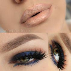 Blue moon smokey eye