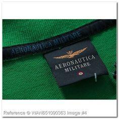 Aeronautica Militare Polo T-Shirt. Brevetto volo. Pilota 9. Eurofighter. TQ163BR. Aeronautica Militare Men's Polo Shirts. Green Color - Aeronautica Militare Polo Shirts & T-Shirts - trendy.to