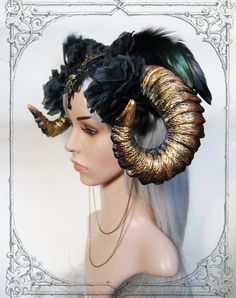 Image result for horns with flowers and beads headpiece