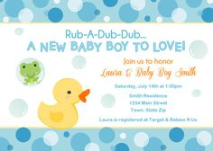 Custom Duck and Frog Baby Shower Invitation  by SquigglesDesigns, $10.00