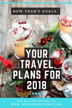 New Years Goals. Make your 2018 resolutions travel related!