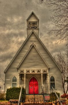red doors, countri church, episcop church, country churches