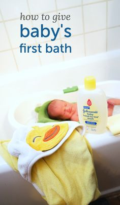 Baby's first bath. I would love to package up a bath kit to give for a baby shower, along with a printout of instructions for parents who may be stressed about all these firsts. That initial bath can be a scary experience!