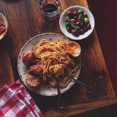 Spaghetti & meatballs at Little Nonna's in Philadelphia's Midtown Village. (Photo by @Visit Philly Guest Instagrammer Jason Varney, aka @Jason Varney on Instagram)