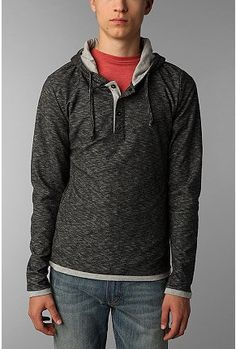 8c3a54f7 Doppelgänger Jerry Pullover Henley Hoodie $30 X-mas Urban Outfitters, Hoodie,  Hoodies,