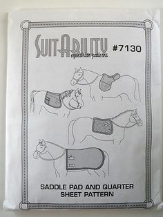 SuitAbility Equestrian Pattern #7130 Saddle Pad and Quarter Sheet Sewing Pattern