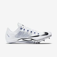 Nike Zoom Superfly R4 unisex track spike (mens sizing), White/Racer Blue/Black