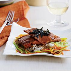 Grace Parisi's Japanese-style trout is glazed in the same sweet and salty sauce that's served with unagi (eel) at sushi bars.