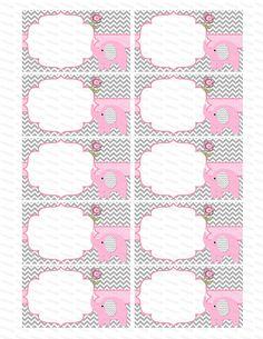 En blanco insertar muchacha bebé ducha invitación por diymyparty Baby Shawer, Baby Art, Elephant Party, Baby Elephant, Imprimibles Baby Shower, Cupcake Toppers Free, Baby Shower Activities, Baby Girl Gifts, Flower Frame