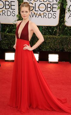 Amy Adams takes the color block plunge. This girl is on fire. #goldenglobes