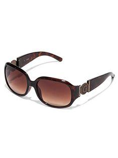 a1f1083c67 GUESS Factory Women s Cutout Logo Plastic Sunglasses Review Stylish  Sunglasses