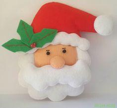 Santa #felt #toys #DIY #keçe #feltro